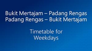 Bukit Mertajam Padang Rengas Weekdays
