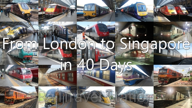 London to Singapore Montage Text Watermark