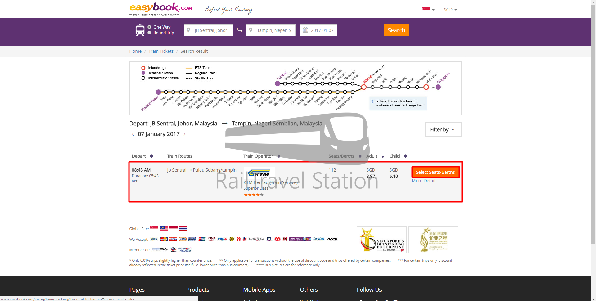 how to book ktm intercity and ets tickets online (easybook