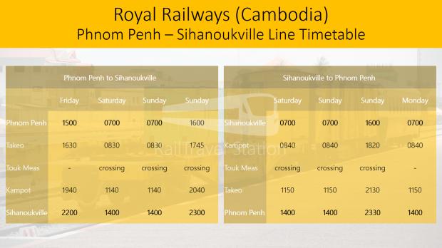 Royal Railways Cambodia Phnom Penh Sihanoukville Line Timetable 02.png