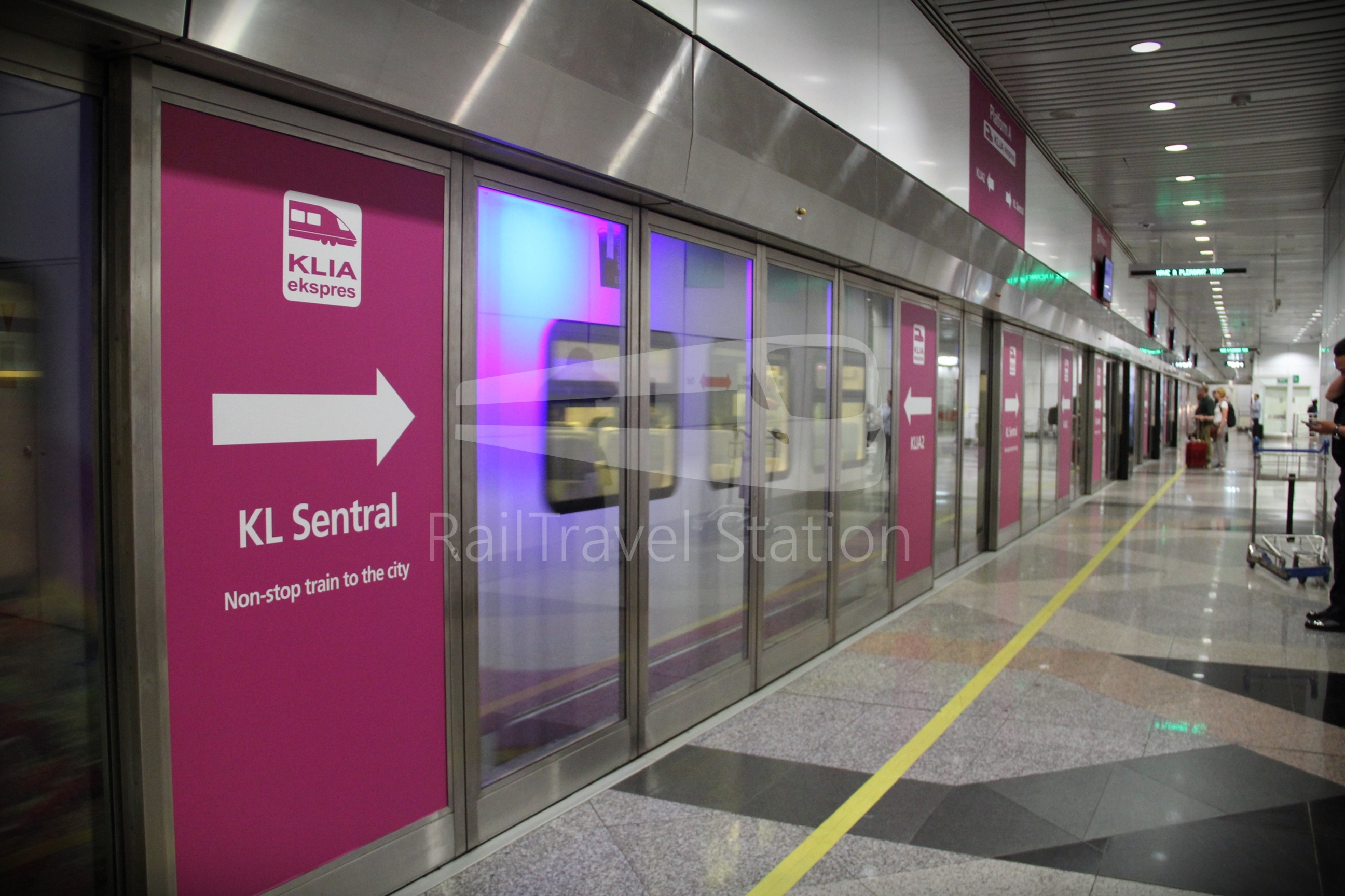KLIA Ekspres: KLIA to KL Sentral by Train